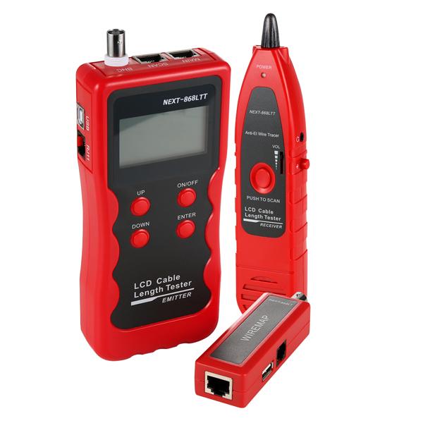 넥스트 RJ45 / RJ11 / BNC / POE Cable Length 테스터기 세트 NEXT-868LTT, 혼합색상, 1세트