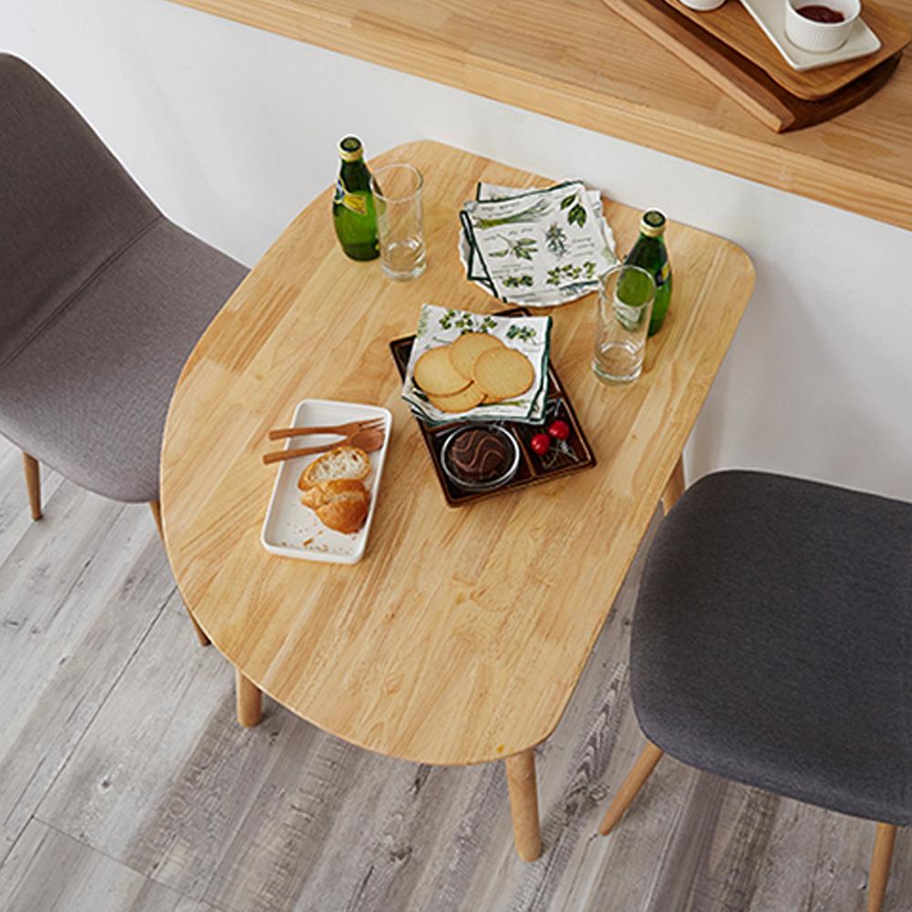 블루밍홈 고무나무 원목 식탁 테이블 800, 네츄럴