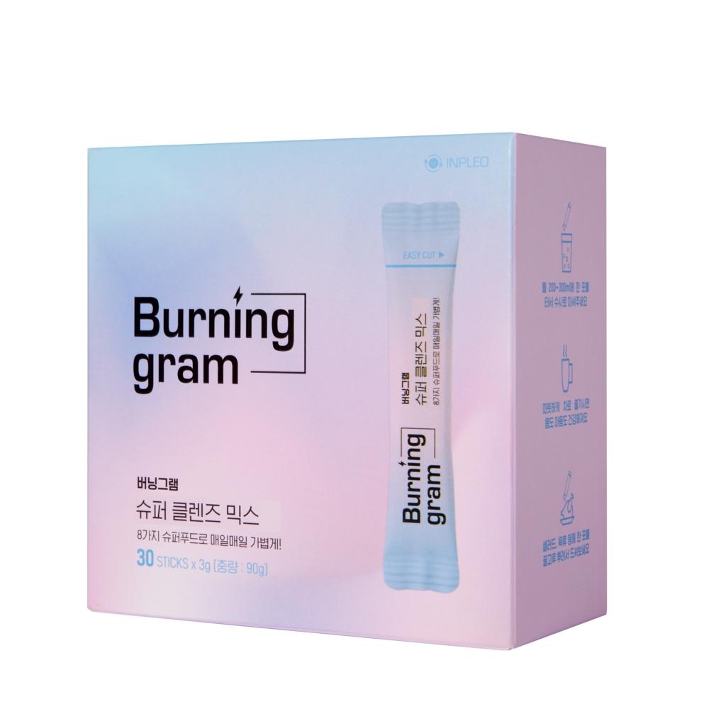 버닝그램 슈퍼 클렌즈 믹스, 3g, 30개