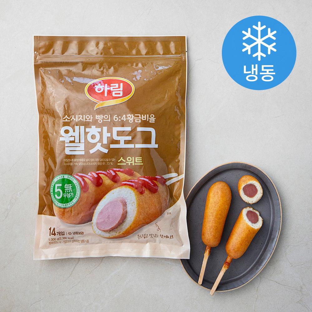 하림 웰 핫도그 스위트 (냉동), 1000g, 1개