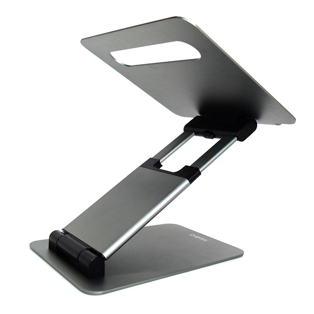 모비큐 알루미늄 맥북 노트북 스마트패드 거치대 AIR STAND EX Riser Pro 3단, 스페이스그레이