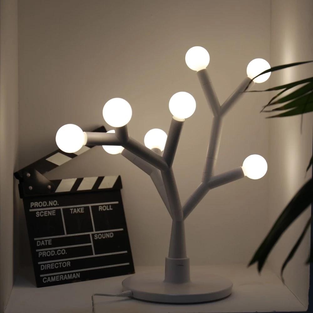 스태리 블로썸 LED 인테리어 스탠드, 하얀색