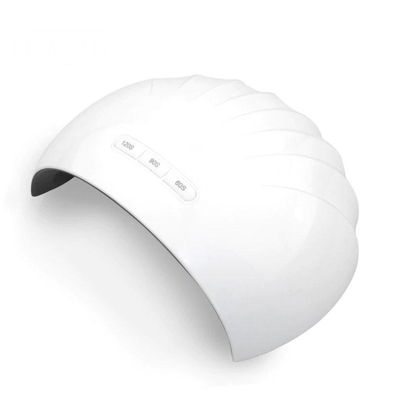 Z6 12 LED UV 조개 젤네일 램프, 혼합색상, 1개