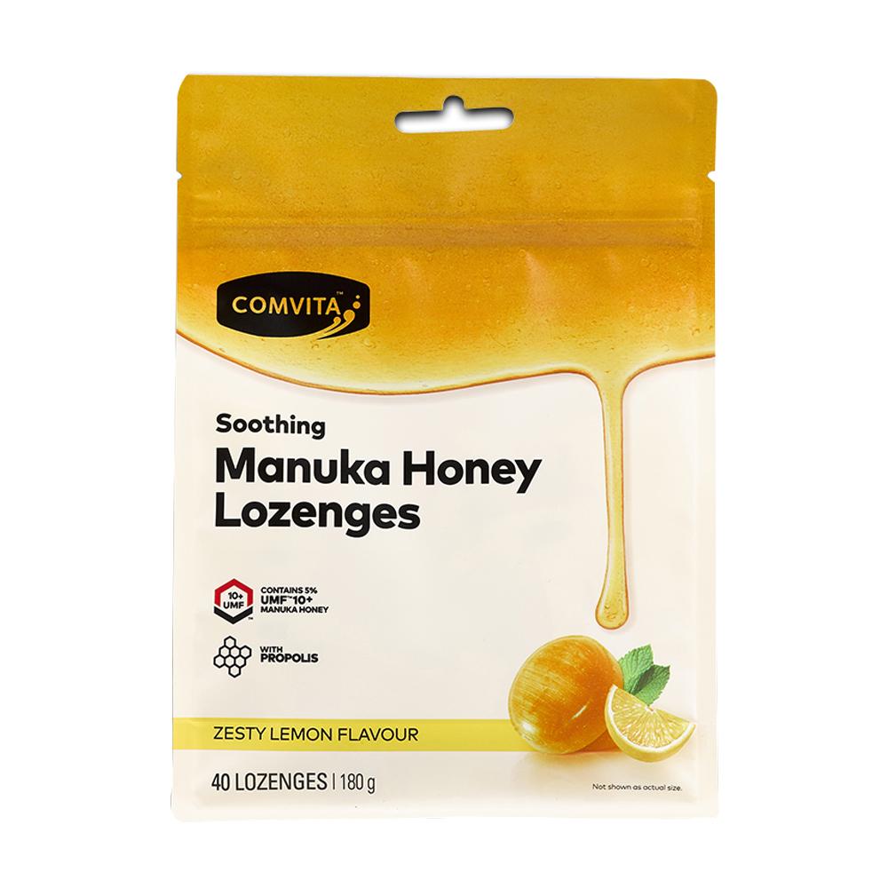 콤비타 UMF 10플러스 마누카꿀 로젠지 프로폴리스 레몬 사탕, 180g, 1개