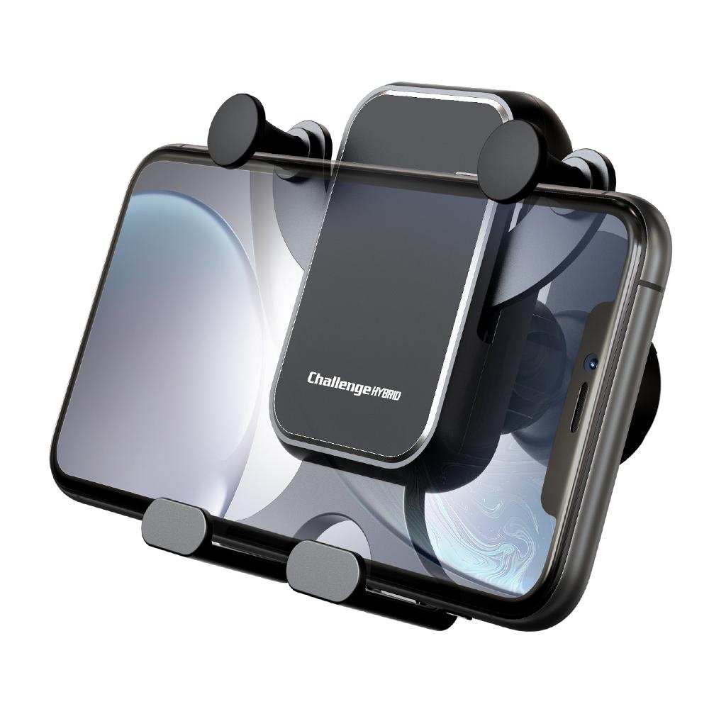 챌린지하이브리드 차량용 가로형 그래비티2 송풍구 핸드폰 거치대, 1개, 블랙