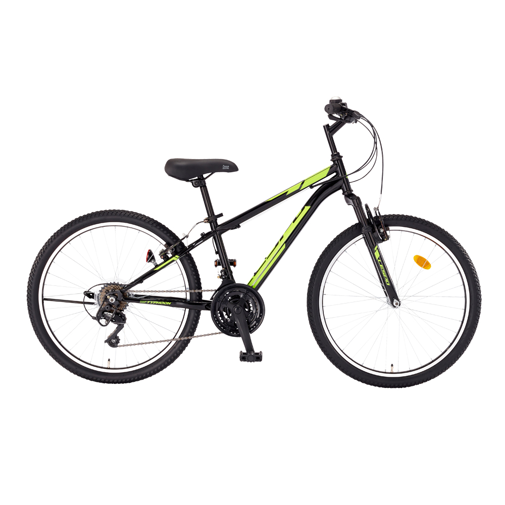 삼바몰 24 태풍 GS 21단 MTB 자전거, 블랙, 1590mm