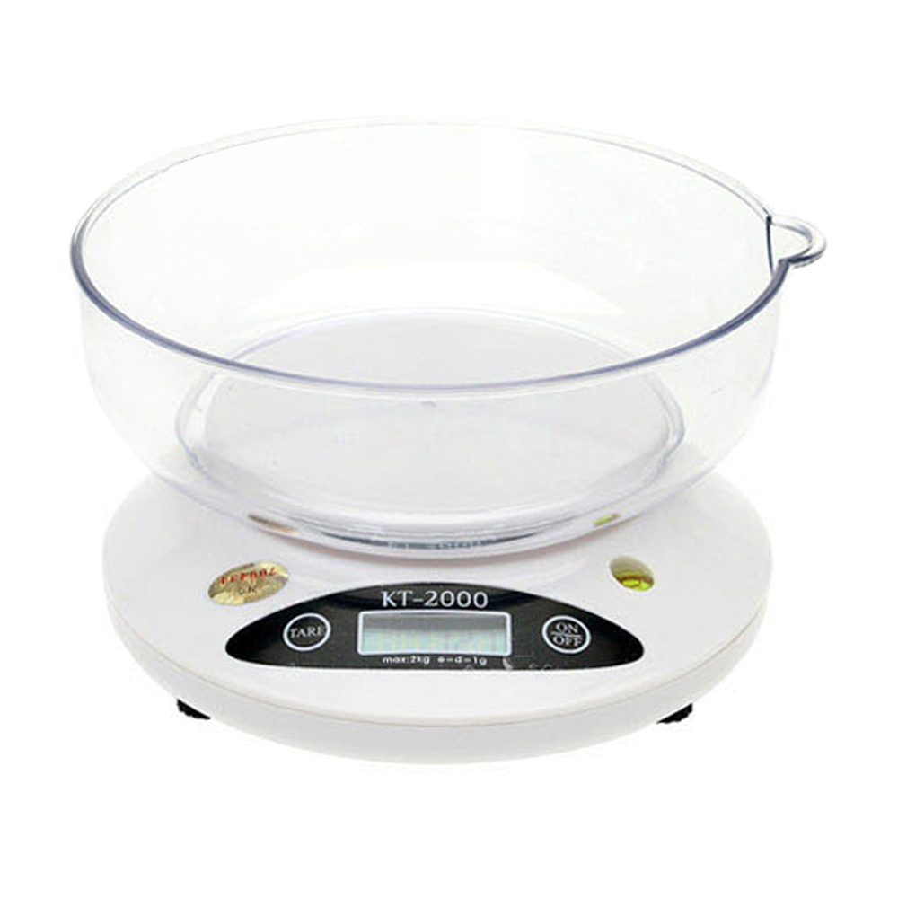 KT시리즈 디지털 주방 전자저울 KT-2000 최대 2kg 1g 단위, 혼합색상