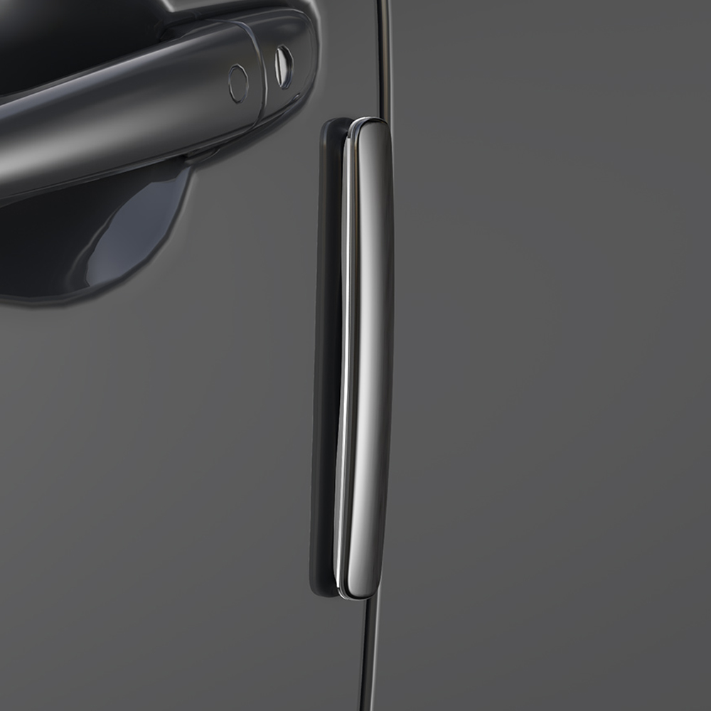 베이스어스 차량용 도어가드 세트 CRFZT, 블랙, 1세트