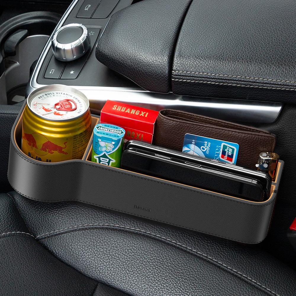베이스어스 차량용 사이드 포켓 콘솔트레이 CRCWH-01 블랙, 1개
