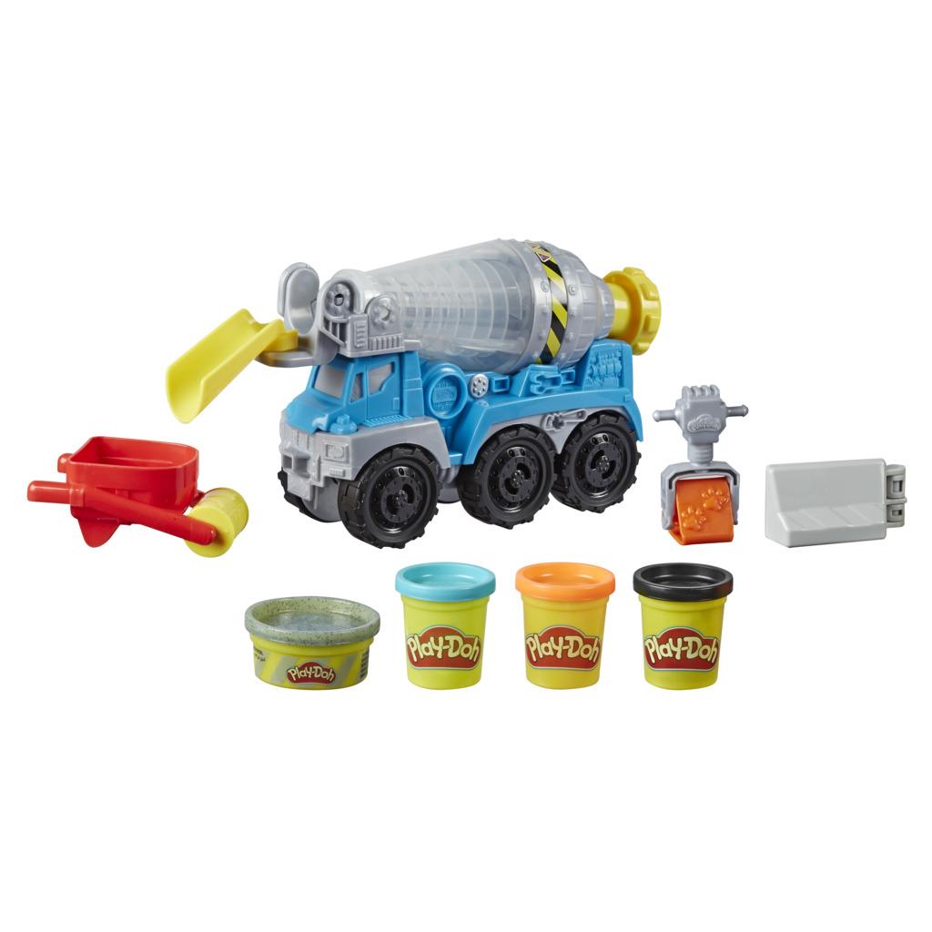 플레이도우 휠 시멘트 트럭 유아용 클레이 세트, 혼합색상, 893g