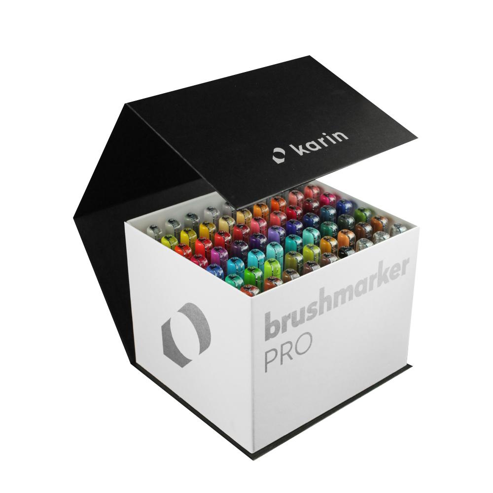 카린 브러쉬마카 프로 메가박스 컬러마카 + 블렌더 3p 세트, 60색, 1세트