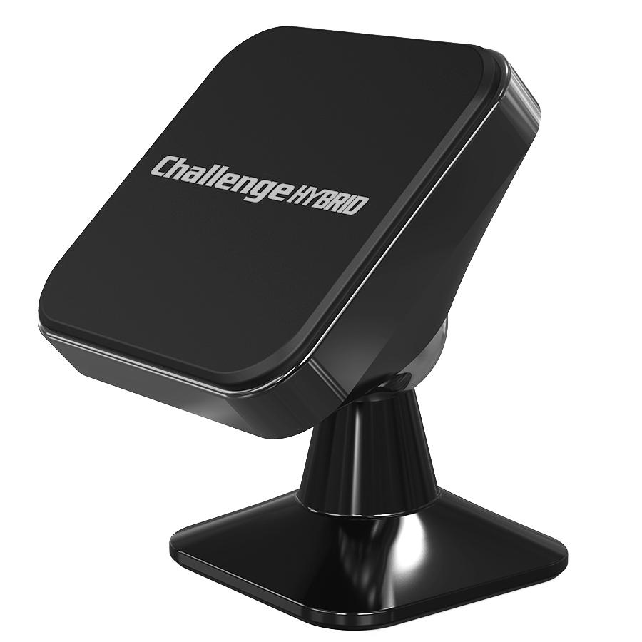 챌린지하이브리드 마그네틱 360 차량용 핸드폰 거치대, 1개, 블랙