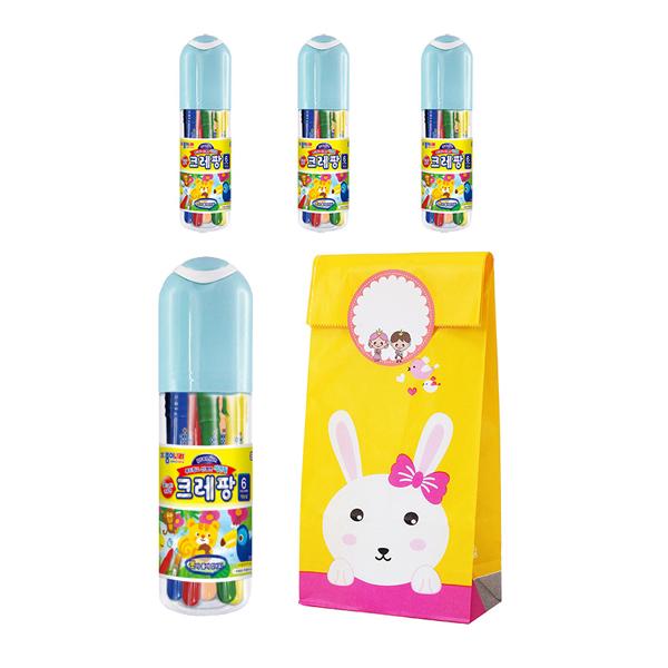 어린이집 유치원 선물 답례품 크레팡 포장 패키지 4세트, 6색