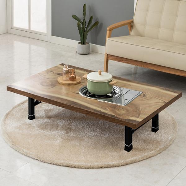 노아가구 리치블 불판 테이블, 통나무