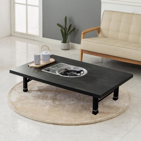 노아가구 리치블 불판 테이블, 블랙