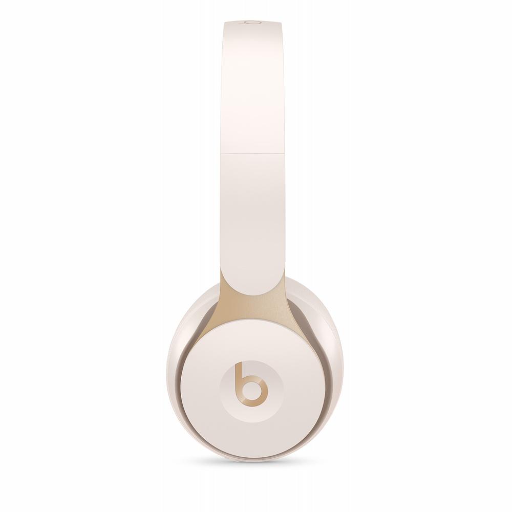 Apple Beats Solo Pro 노이즈 캔슬링 무선 헤드폰, 아이보리, MRJ72ZP/A