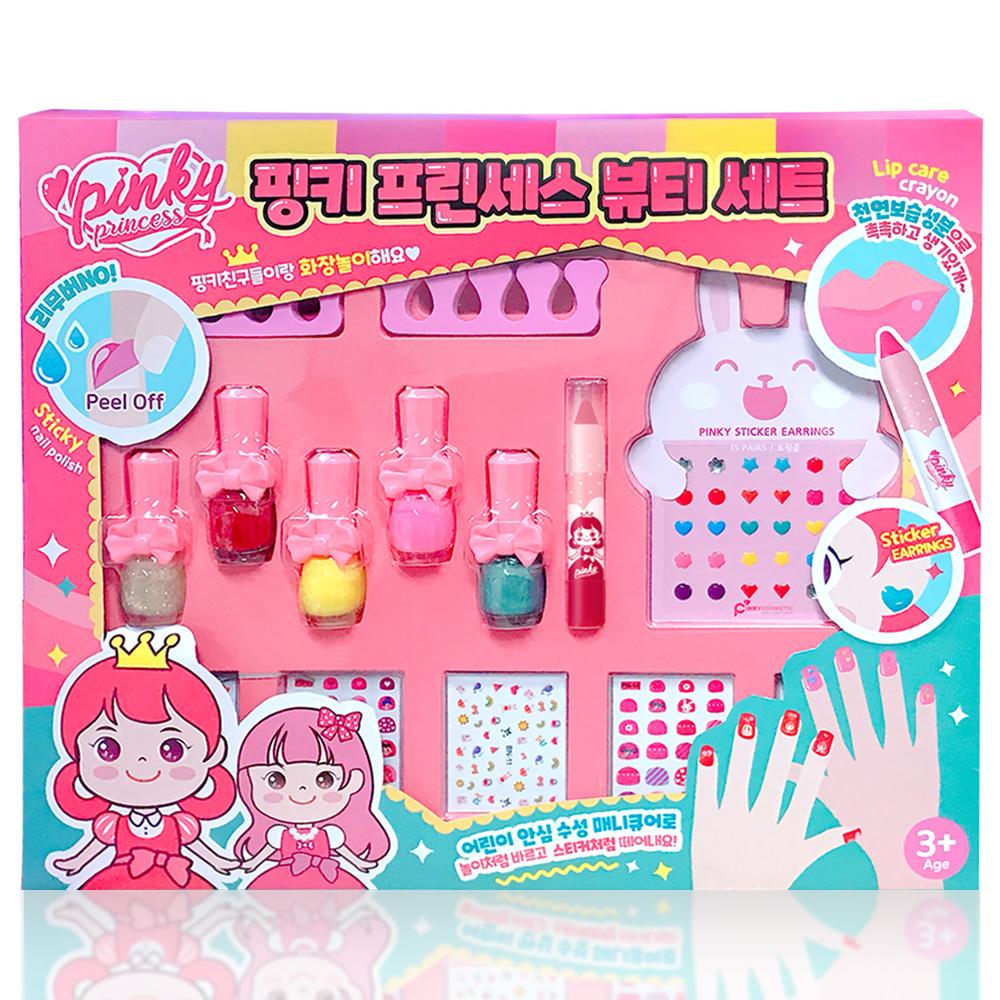 핑크공주 어린이 뷰티 선물세트, 혼합색상