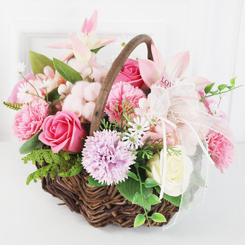 도시정원 조화 러블리 꽃바구니, 핑크