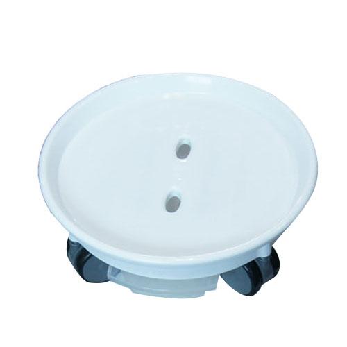 감동샵 이동식 화분받침 로라원형 물받침대, 화이트