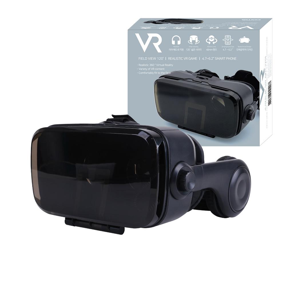 컴스 헤드폰 일체형 VR 기기 헤드기어 VR BOX BB200