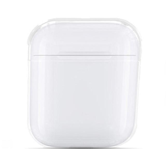 에어팟 1세대/2세대용 투명 케이스 + 철가루 방지 스티커 + 카라비너, 단일상품, 투명(케이스), 랜덤발송(철가루방지스티커)