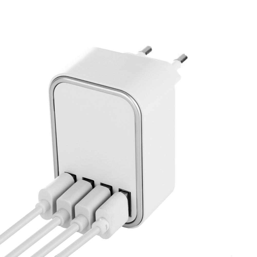 알리오 4포트 멀티 USB 고속 충전기, 혼합색상, 1개