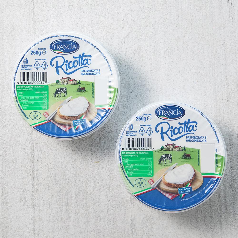 프란시아 리코타 치즈, 250g, 2개