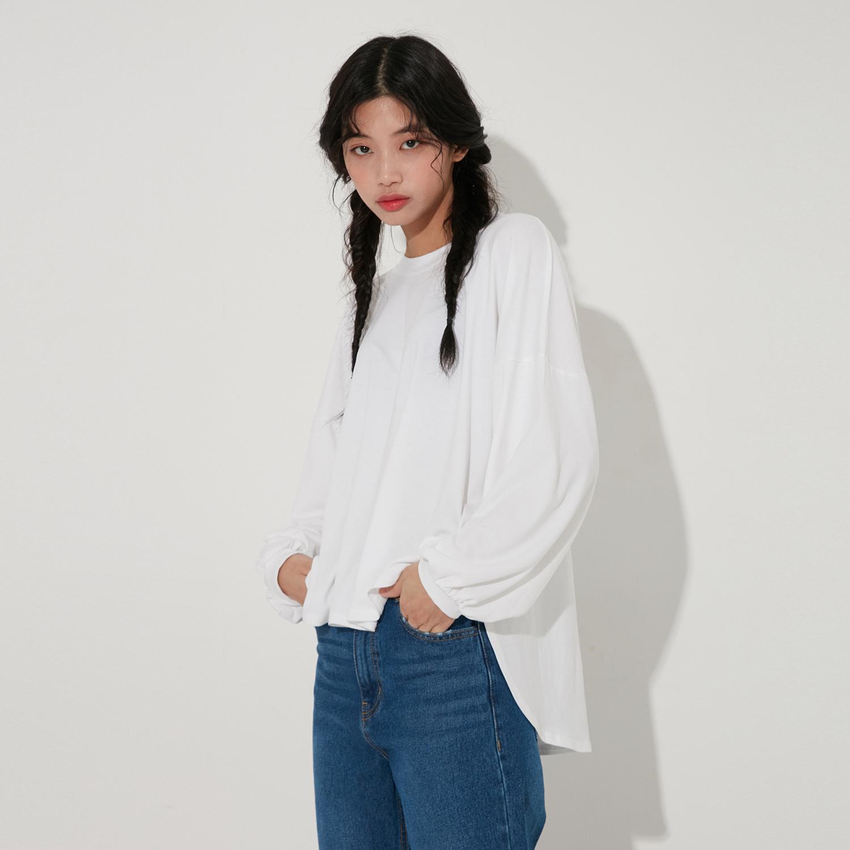 랩 여성용 무지 레이온 티셔츠 AL1CT149