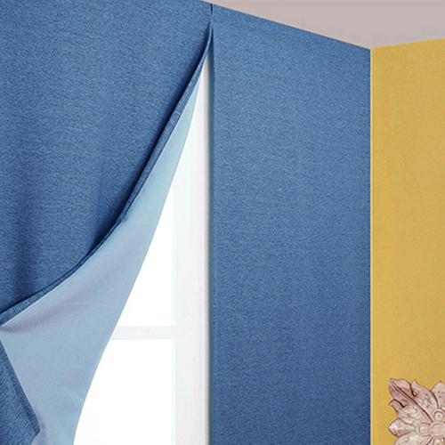 디자인갤러리 찍찍이로 붙이는 프리머 암막커튼, 블루