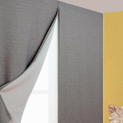 디자인갤러리 찍찍이로 붙이는 프리머 암막커튼, 그레이