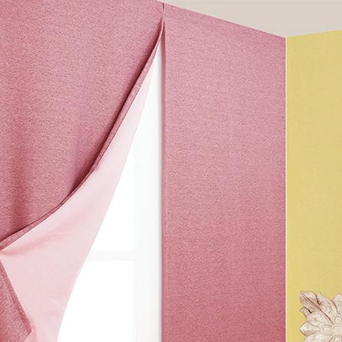 디자인갤러리 찍찍이로 붙이는 프리머 암막커튼, 핑크
