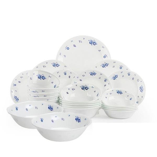 코렐 블루베리 6인 식기 홈세트 냉면기 31p, 혼합색상, 식기 9종