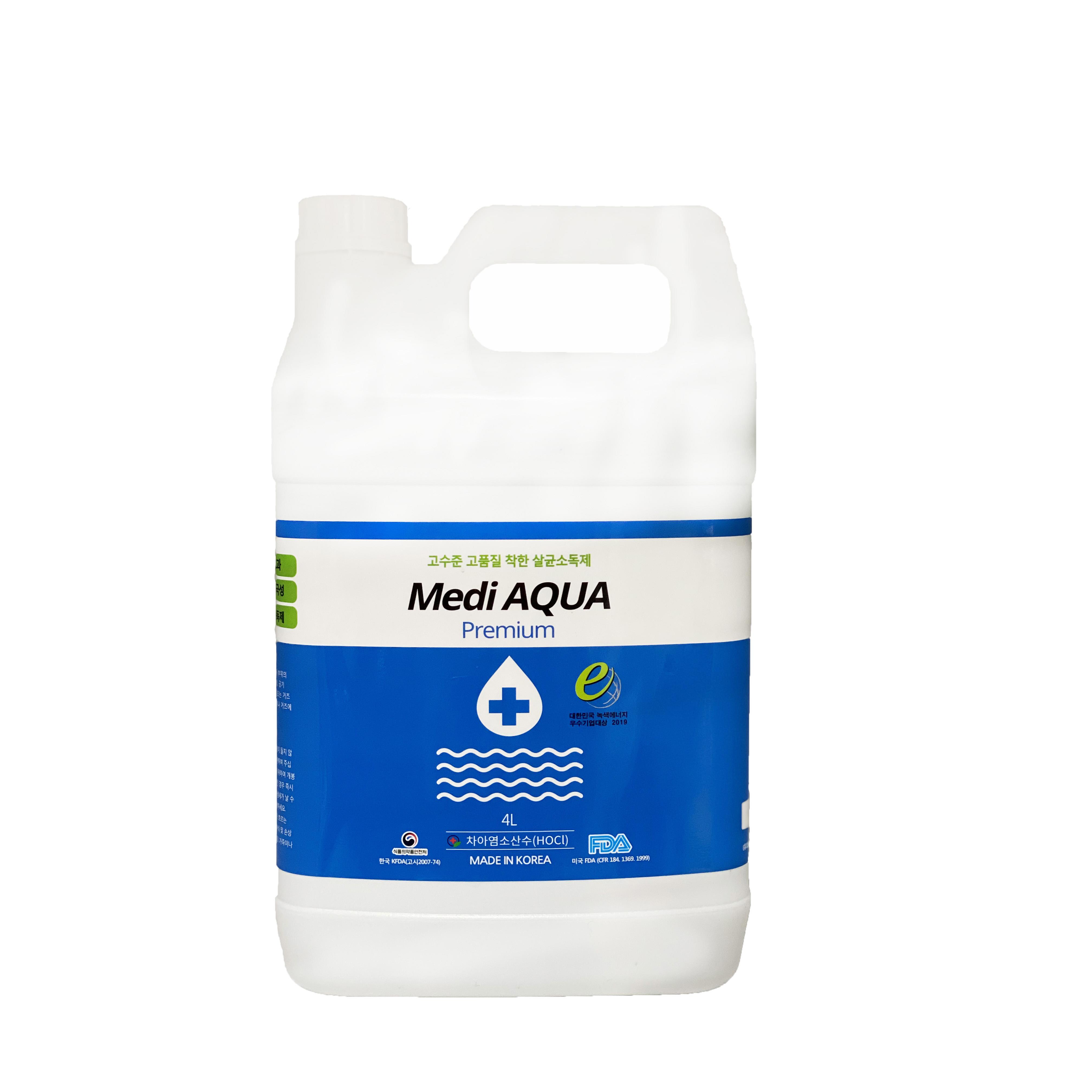 메디아쿠아 살균소독제, 4L, 1개