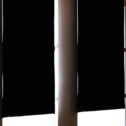 디자인갤러리 찍찍이 솔리드 암막커튼, 블랙