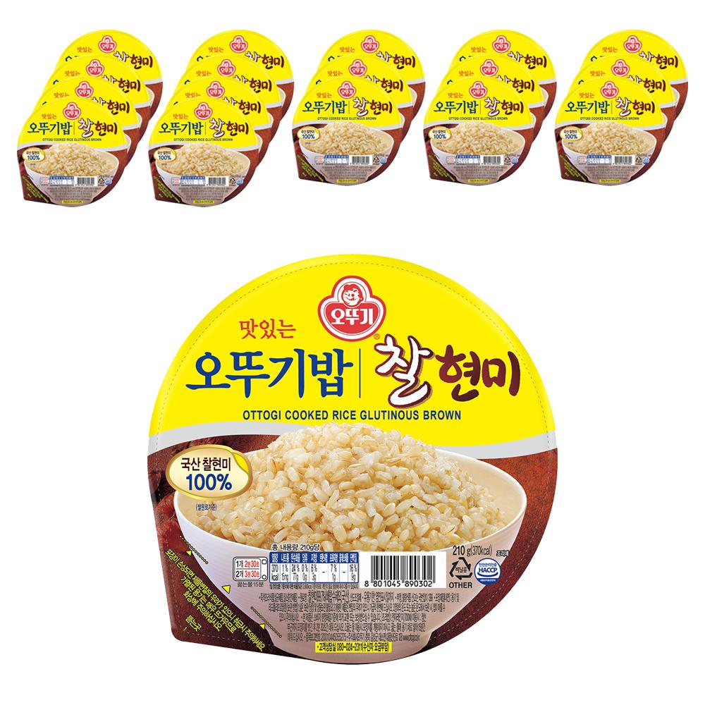 오뚜기 오뚜기밥 찰현미, 210g, 18개