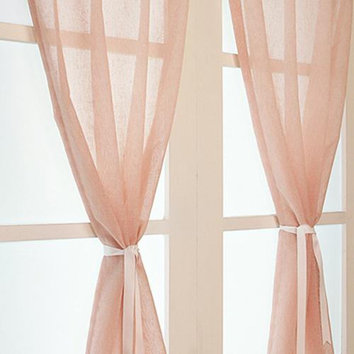 디자인갤러리 찍찍이 린넨룩 쉐어 벨크로커튼, 핑크