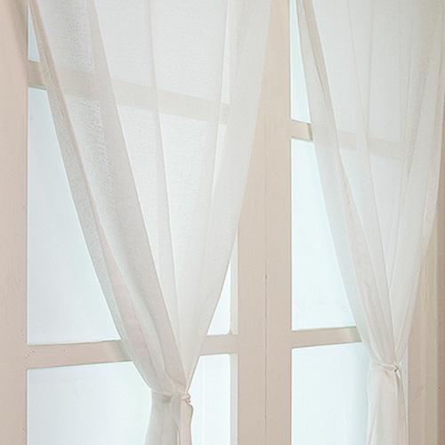 디자인갤러리 찍찍이 린넨룩 쉐어 벨크로커튼, 화이트