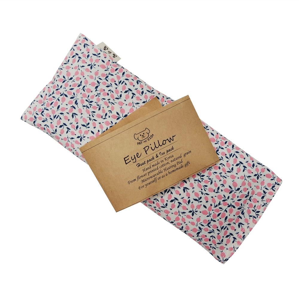 팥앤찜 팥 눈찜질팩 + 커버 핑크 세트, 1세트