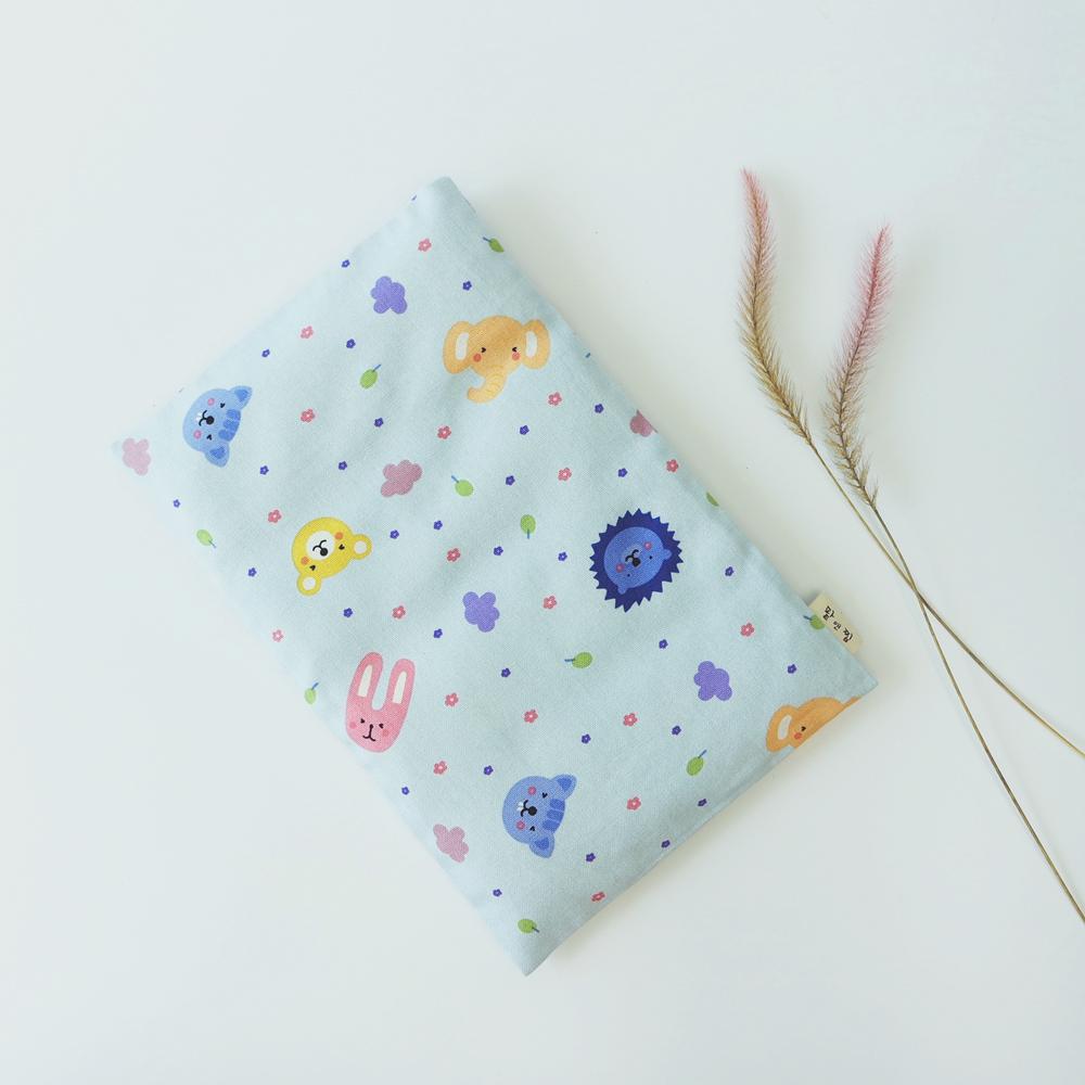 팥앤찜 휴대용 팥 복부찜질팩 + 커버 파랑동물원 세트, 1세트