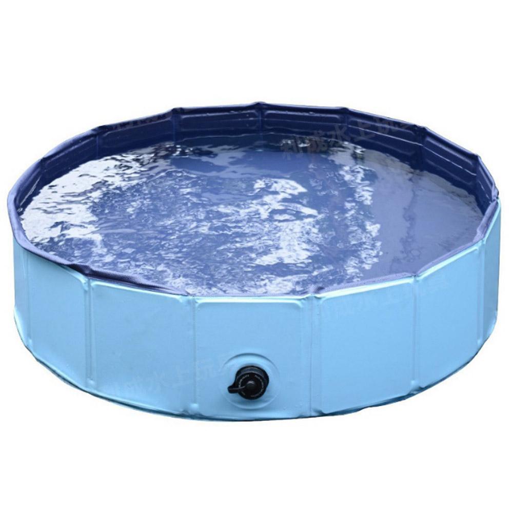 에코벨 강아지 접이식매트 욕조 대형, 블루, 1개