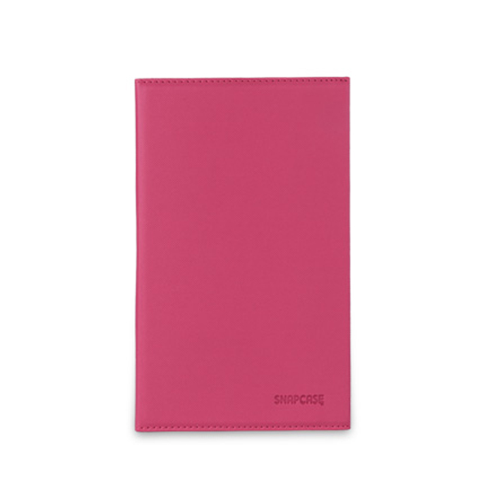 스냅케이스 캔버스북커버 태블릿PC용 가죽케이스, 핑크