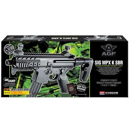 SIG MPX-K SBR 에어건 BB탄총 17114 + AGF 카드, 1개
