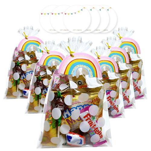 민트바 무지개 간식 선물세트 6p + 스티커 6p, 1세트