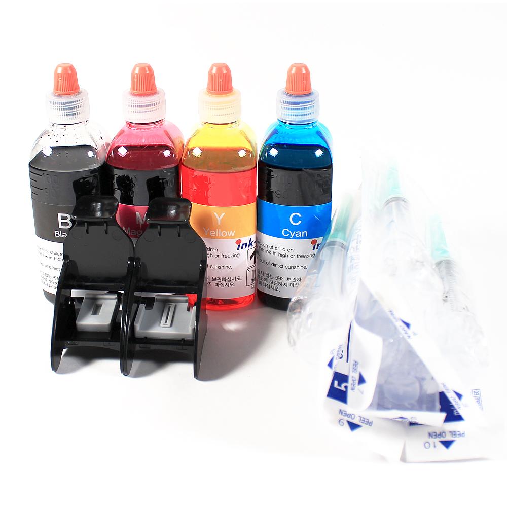 삼성전자 프린터 SL-J1660 & J1663 & J1665 & M180 & C180용 잉크 충전 풀세트, 잉크 원액(Black, Magenta, Yellow, Cyan), 1세트