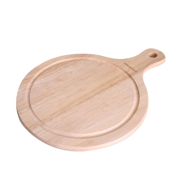 에코상사 고무나무 원목 원형도마, 내츄럴