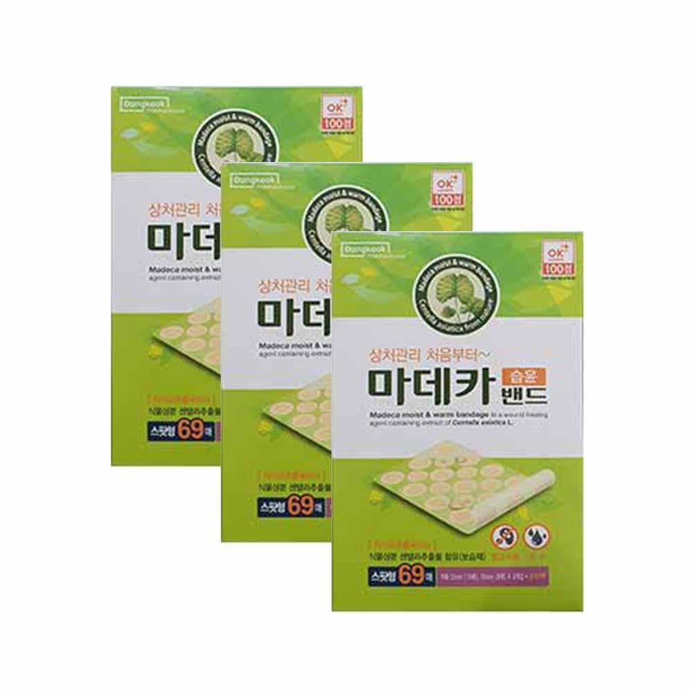 동국제약 마데카 습윤밴드 스팟형 69매, 3개 (POP 1403515841)