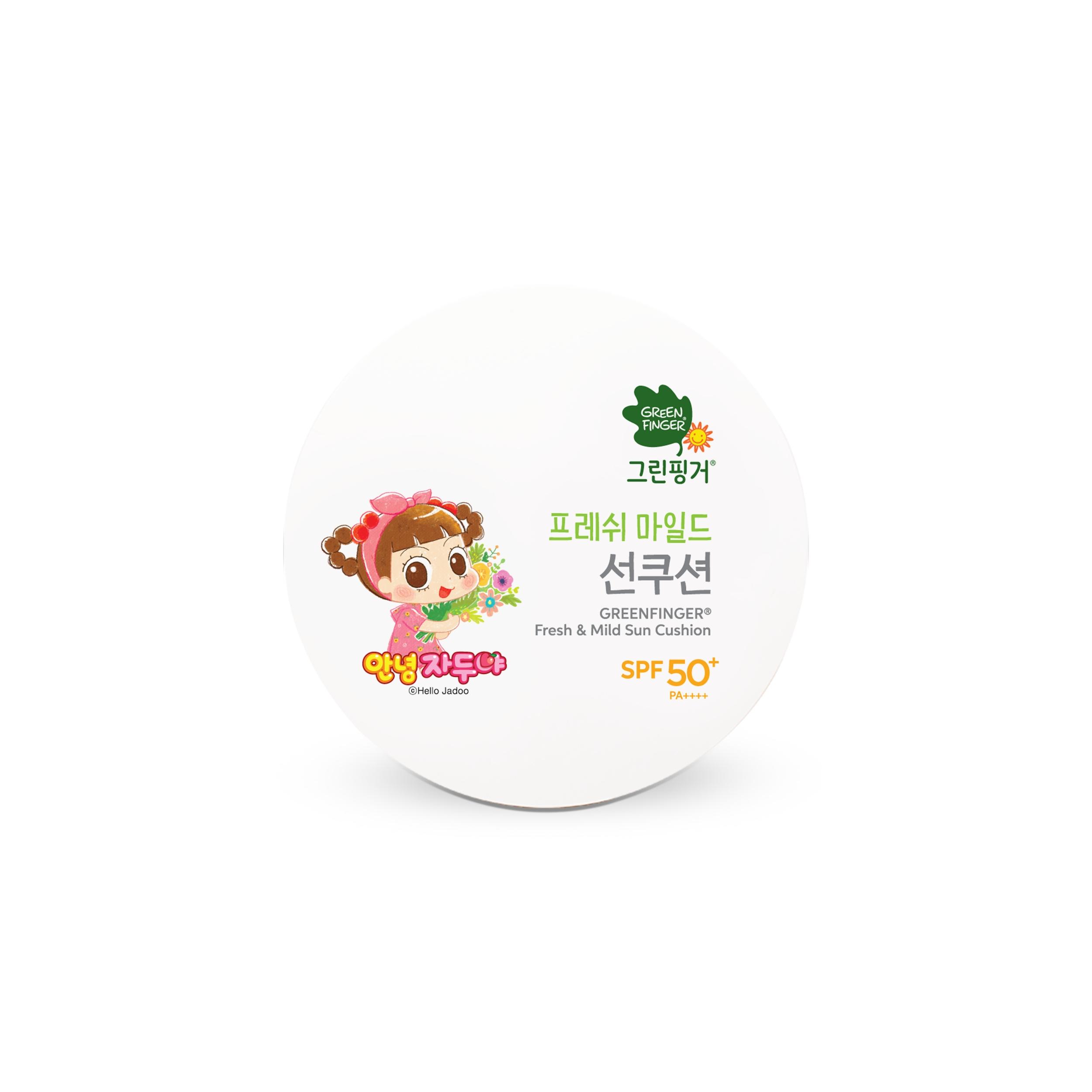 그린핑거 프레쉬 마일드 유아 선쿠션 SPF50+ PA++++, 12g, 1개