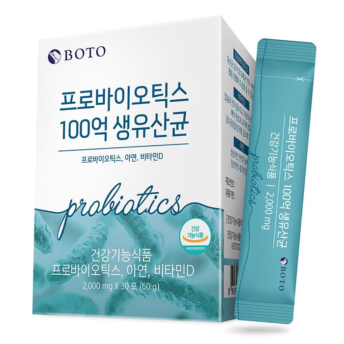 보뚜 프로바이오틱스 100억 생유산균, 2g, 30개입