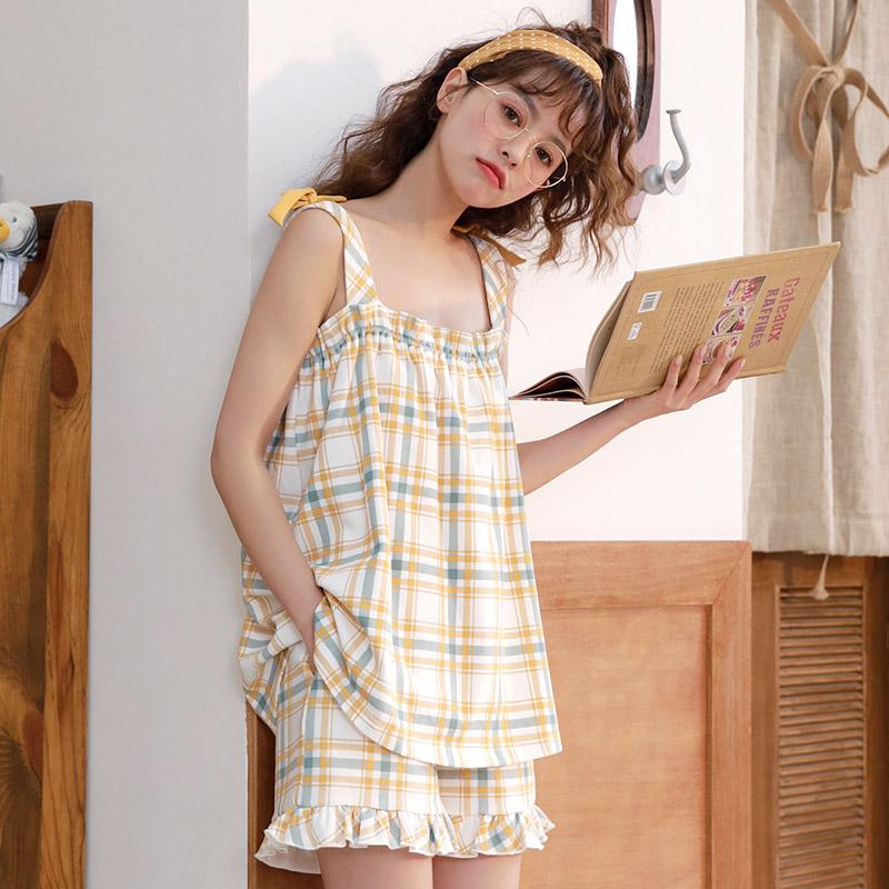 코튼원 여성용 홈웨어 나시잠옷세트 레모니