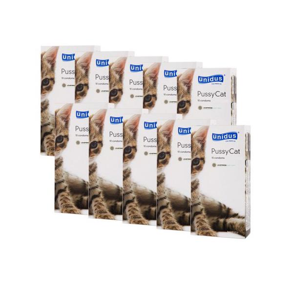 유니더스 푸시캣 슬림형 콘돔, 10개입, 10개